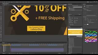 Erstellen von HTML5-Banner mit Adobe Animate CC 2017 mit 1.5 Speed