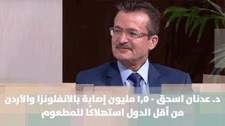 د. عدنان اسحق - 1.5 مليون إصابة بالانفلونزا والأردن من أقل الدول استهلاكًا للمطعوم