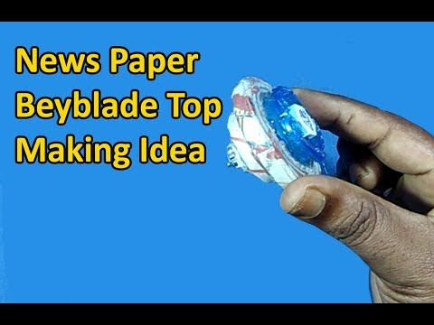 News paper Beyblade top Making Idea | Make a Beyblade Top with Newspaper