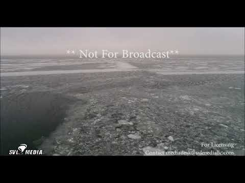 Bellport, New York - Ice Flow In The Great South Bay/Drone Flyby - January 13th, 2018