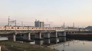 東京メトロ10000系鶴見川を渡る