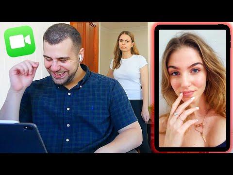 Flirting on Video Call PRANK! She Caught Me!