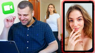 Flirting on Video Call PRANK! She Caught Me!