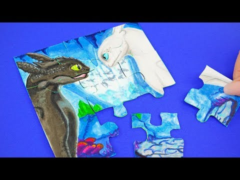 HOW TO TRAIN YOUR DRAGON (2019) : The Hidden World FUNNY PUZZLE DIY