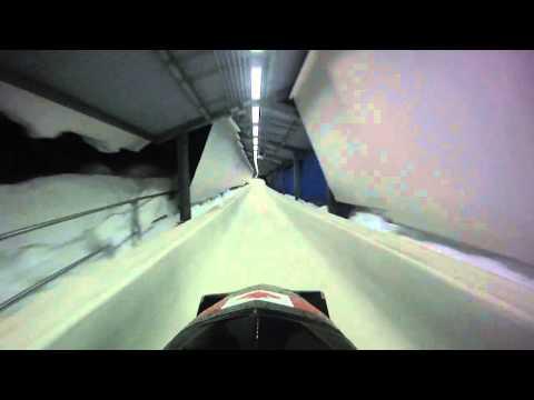 Whistler Bobsledding POV @ Damen's Start (World's fastest Bobsleigh track) 720p HD