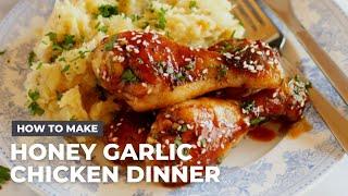 One Pan Honey Garlic Chicken Dinner Recipe