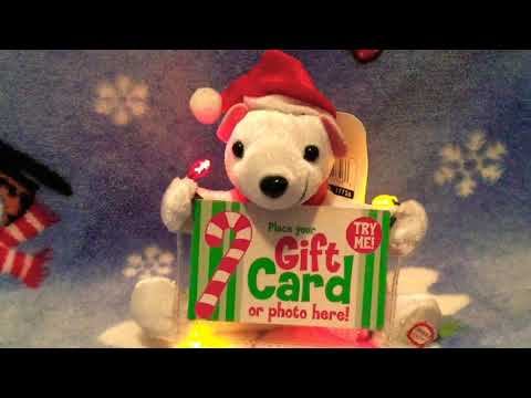 Gemmy Musical Gift Card Holder- Polar Bear