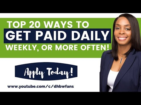 Get Paid Fast! 20 Online Jobs That Pay Daily, Weekly, or Within Hours