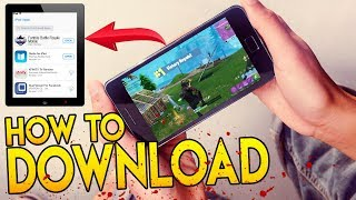 "How to Get & DOWNLOAD FORTNITE on MOBILE! ""FREE Fortnite Battle Royale iPhone, IOS, iPad & Android"""