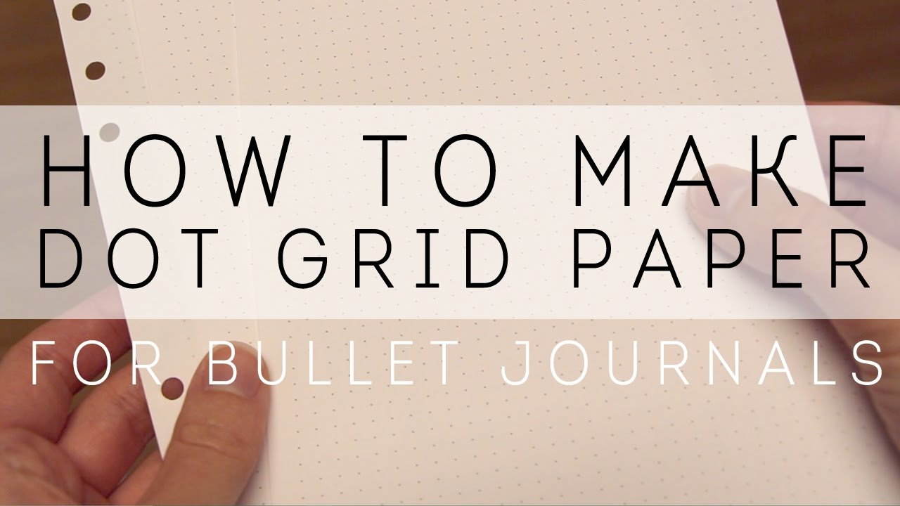 How To Make Dot Grid Paper For Bullet Journaling   YouTube  Making Graph Paper In Word