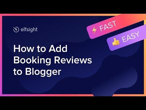 Как добавить Booking отзывы на Blogger (2020)