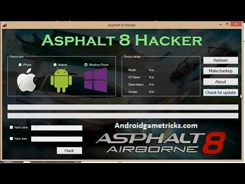 how to hack asphalt 8:airborne @unlimited money ,tokens,fuel tanks ...