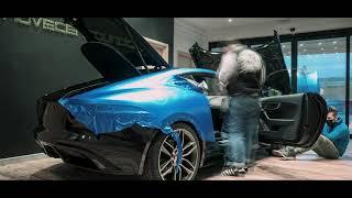 Jaguar F Type  Car wrapping Satin Perfect Blue 3M