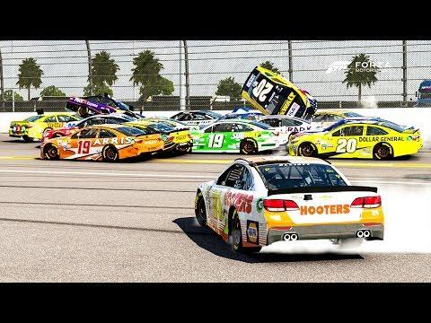 Horrible Wreck! (20+ Cars Crash)   Forza Motorsport 6   NASCAR Expansion