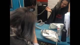 Мелирование пепельное на темно русые волосы фото