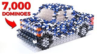 GIANT TRUCK MADE OF 7,000 DOMINOES!