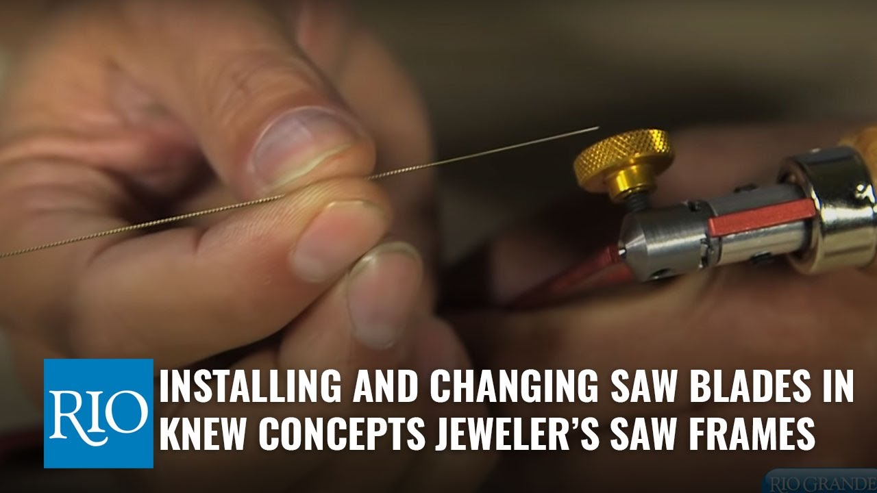 Installing and changing saw blades in knew concepts jewelers saw installing and changing saw blades in knew concepts jewelers saw frames greentooth Images