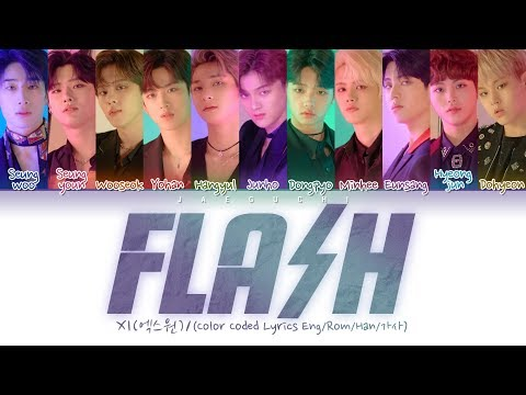 X1 (엑스원) 'FLASH' (Color Coded Lyrics Eng/Rom/Han/가사)