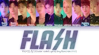 Gambar cover X1 (엑스원) 'FLASH' (Color Coded Lyrics Eng/Rom/Han/가사)