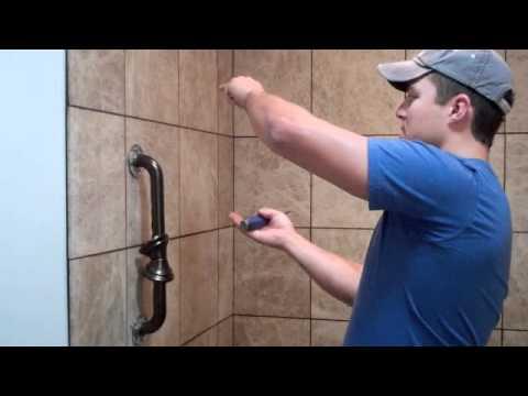 On The Jobsite Installing Shower Grab Bars Youtube