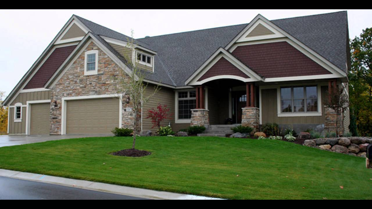 Exterior home siding ideas youtube for Vinyl siding house plans