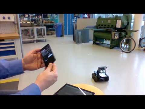 Steering and controlling a Xaxxon Oculus Prime robot with th