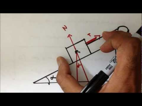 Newtonian Mechanics: Friction on Inclined Plane w/Pulley (EF)