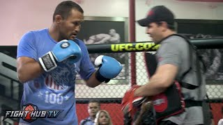 Dan Henderson's COMPLETE UFC 204 Media Workout video- Bisping vs. Henderson 2