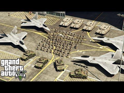 GTA 5 - Army Patrol Episode #30 - Saving San Andreas! NORTH KOREA MOD! (Jets, Helicopters, Convoys)