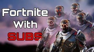 Fortnite Jugando con Subs / Escuadrones / Aduanas / Gana monedas para obtener GIFT / Fortnite Battle Royale Live