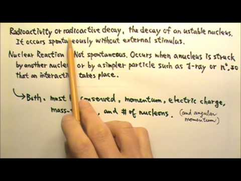 AP Physics 2: Modern 30: Radioactivity and Nuclear Reaction: What's Conserved