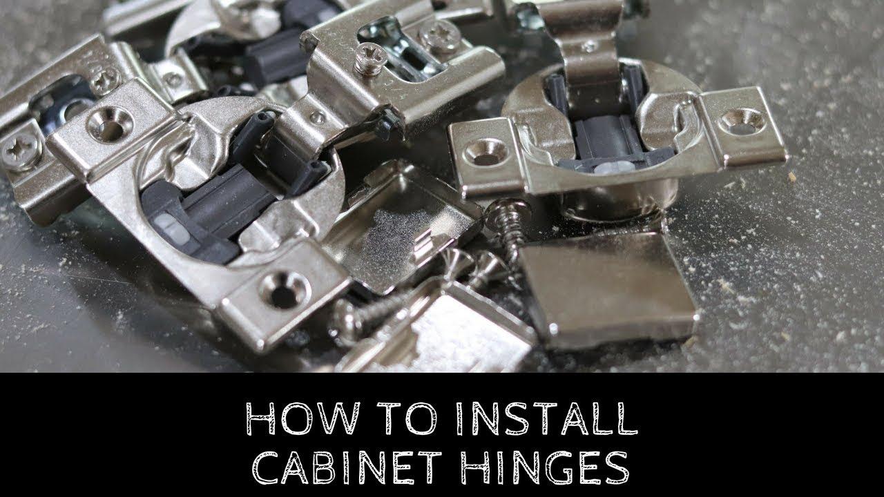 How To Install Cabinet Door Hinges Youtube