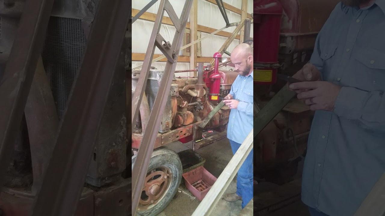hight resolution of farmall h after rebuild first start carburetor tune start again