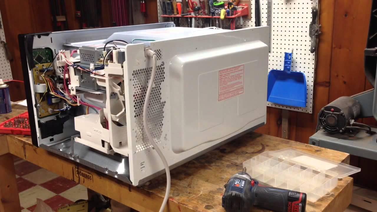 fixing a panasonic genius prestige microwave close door issue