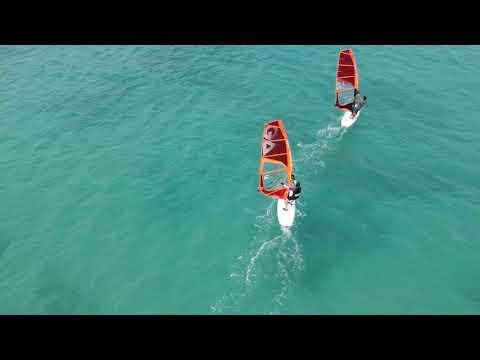 Cabo Verde island Boa Vista drone video Sal Rei Africa beach paradise