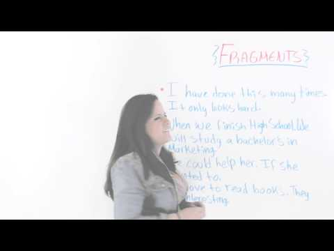 Identifying Sentence Fragments In English