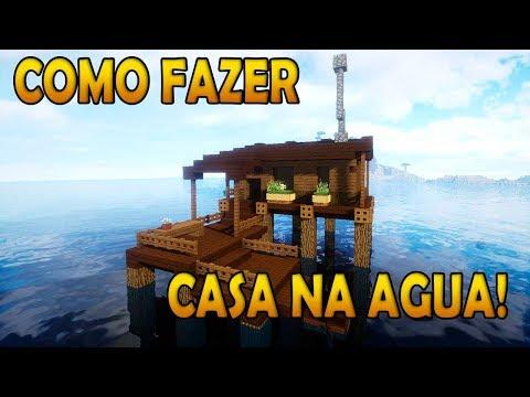 COMO FAZER UMA CASA NA ÁGUA NO MINECRAFT ! ( WATER HOUSE ) TUTORIAL