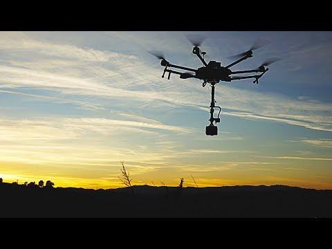 6K 3D 360° Drone Aerial of Epic Sunset Castaic Lake California | DJI M600 + Obsidian R