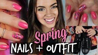 Spring Look: ✿ Outfit & Nail Tutorial! Thumbnail