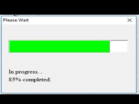 Excel Vba Progress Bar While Macro Running Youtube