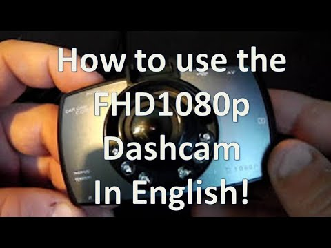 FHD1080p Chinese Dashcam English Instructions And Menu Explanation