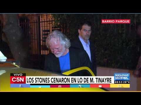 C5N - Espectáculos: Los Stones cenaron en lo de Marcela Tinayre