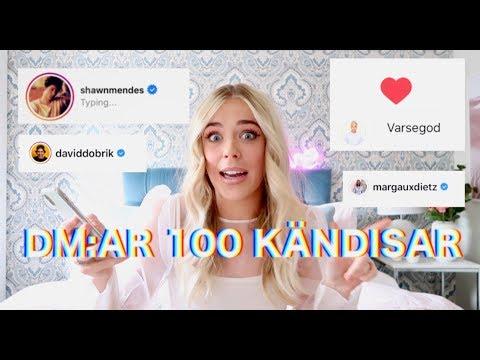 DM:AR 100 KÄNDISAR PÅ INSTAGRAM OCH SER VILKA SOM SVARAR - STELT...