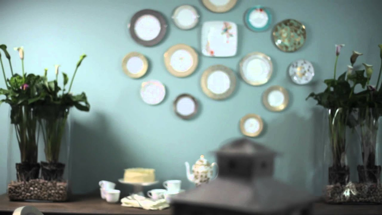 How To Decorate Your Walls with Dining Plates | Benjamin Moore - YouTube