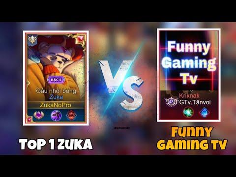 TOP 1 Zuka - ZukaNoPro Đối Đầu Với FUNNY GAMING TV Trên Rank Thách Đấu Cực Căng