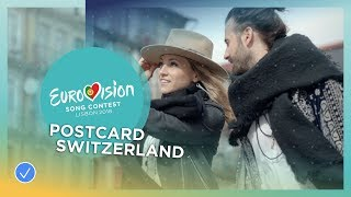 Postcard of ZiBBZ from Switzerland - Eurovision 2018