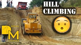 IS HE GOING TO MAKE IT!? HILL CLIMBING WITH HEAVY MACHINERY!