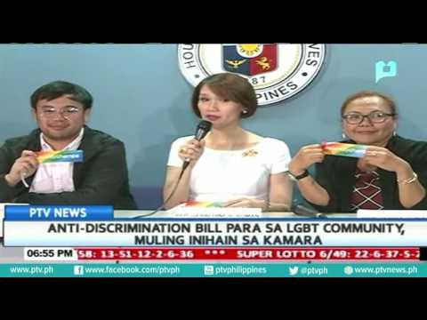 Anti-discrimination bill para sa LGBT community, muling inihain sa kamara