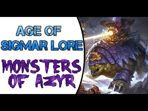 Age of Sigmar Lore: Seraphon Monsters of Azyr