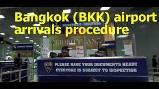Thailand: Bangkok airport (BKK) arrivals procedure - can you smoke or buy duty free on arrival?